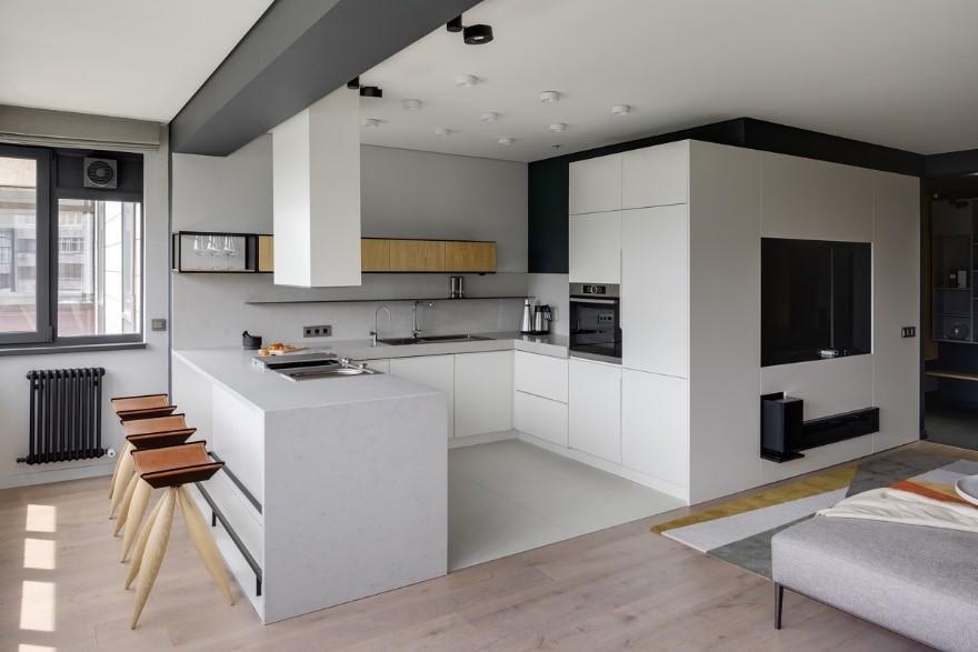 مزیت های آشپزخانه با کابینت U شکل